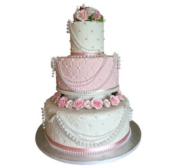 How To Make A  Tier Wedding Cake With Fondant